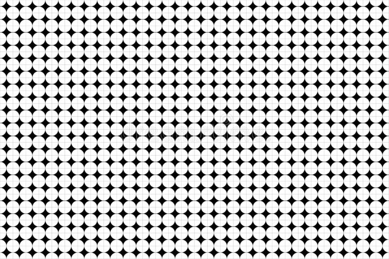 Pattern dot circle in channel Line black color hatch background on white paper, straight line intersects grid table square royalty free illustration