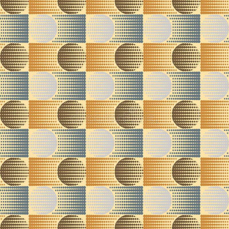 The pattern of circles and rectangles royalty free illustration