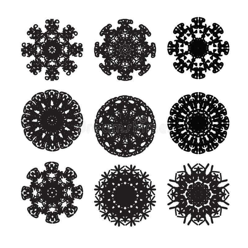 Pattern cirle design 8. Pattern round circle graphic design royalty free illustration