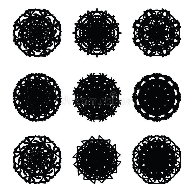 Pattern cirle design 6. Pattern round circle graphic design stock illustration