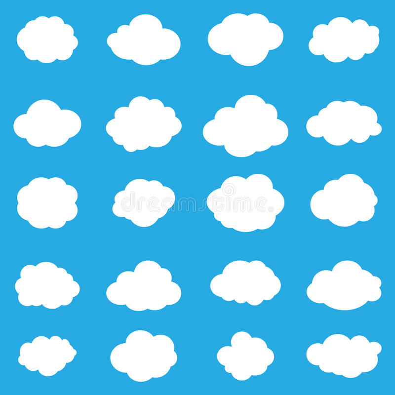 Download Set cloud icons stock vector. Illustration of vector - 73473676