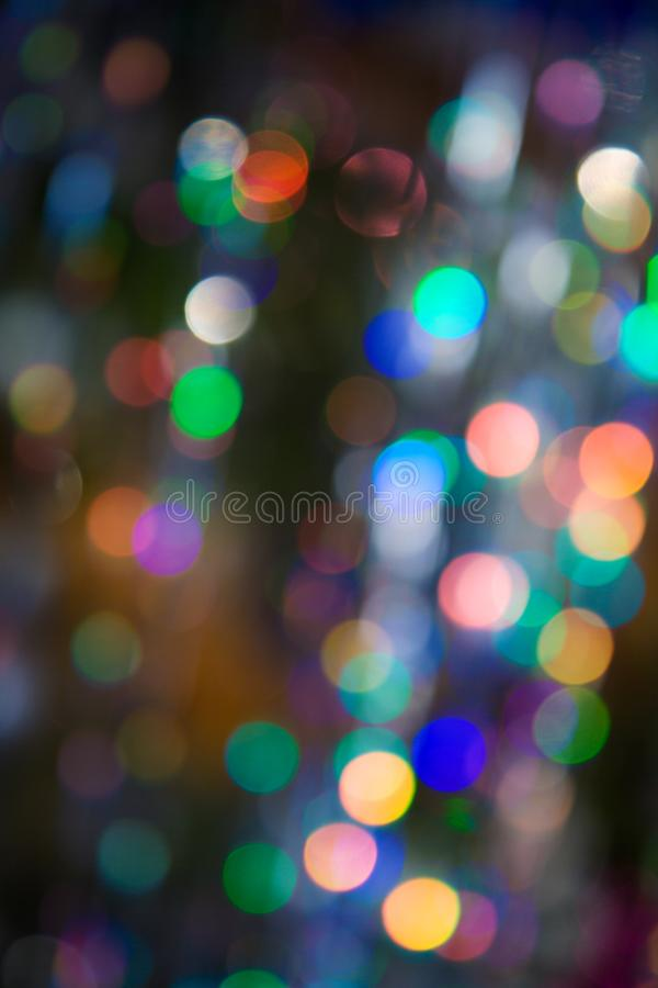 Pattern of colorful decoration lights stock photography