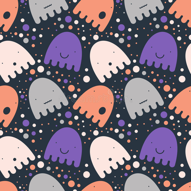 Free Pattern Colorful Ghost Stock Image - 77815051