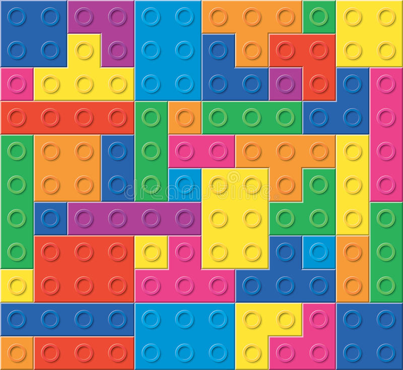 vector pattern of colorful plastic blocks vector illustration