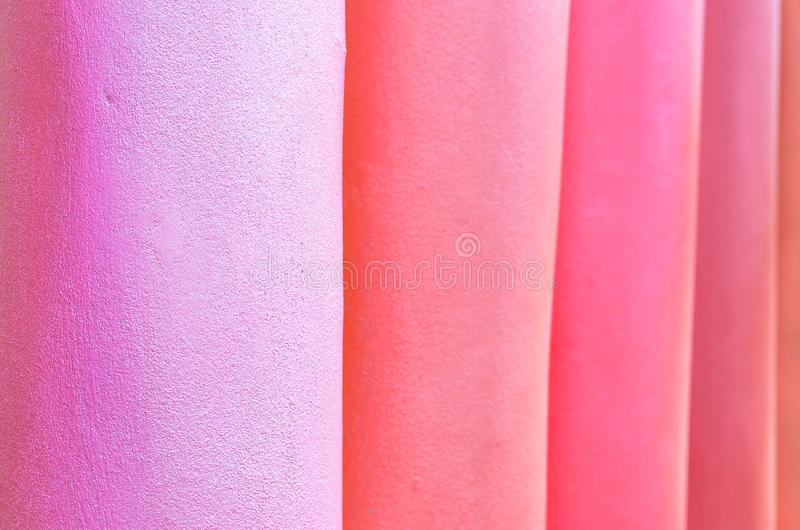 Pattern of colorful pole mortar wall texture and background,select focus. royalty free stock images
