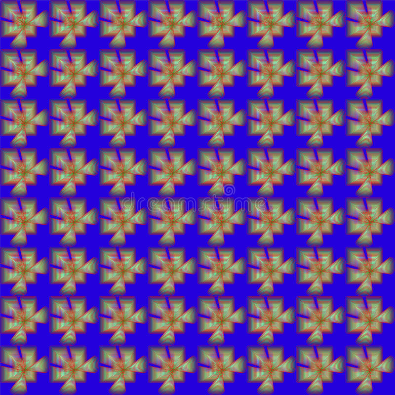 Pattern. Colorful synetric and hypnotic backgroung pattern royalty free illustration