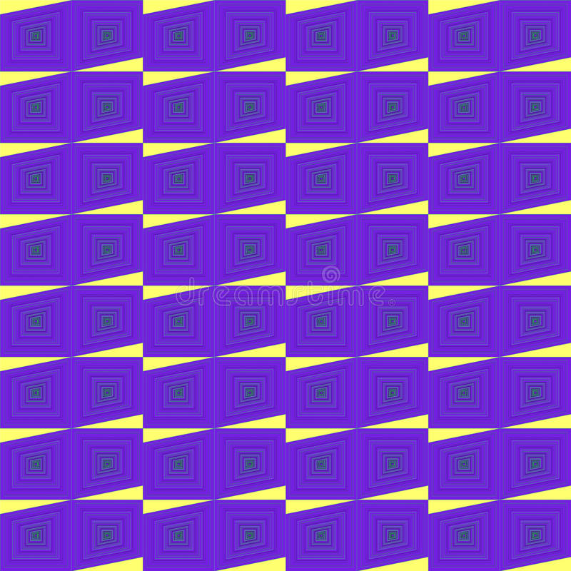 Pattern. Colorful synetric and hypnotic backgroung pattern stock illustration