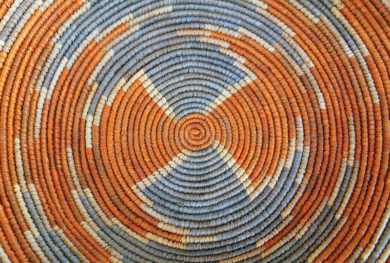 Pattern on a Colorful Woven Basket. Closeup of the Pattern on a Colorful Woven Basket royalty free stock photos