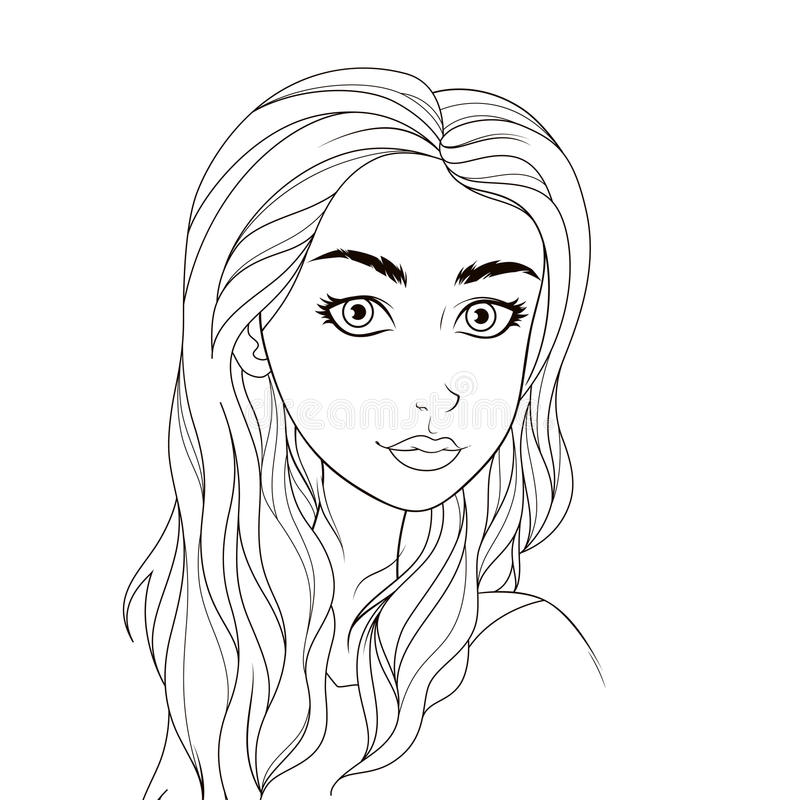 Luxury Coloring Book Girl Frieze - Printable Coloring Pages for Kids ...