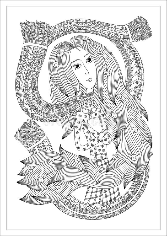 Doodle Abstract Pattern For The Coloring Book For Adults. Hand Drawn Ink  Artwork. Vector Illustration Stock Vector - Illustration of adults,  artwork: 139876821
