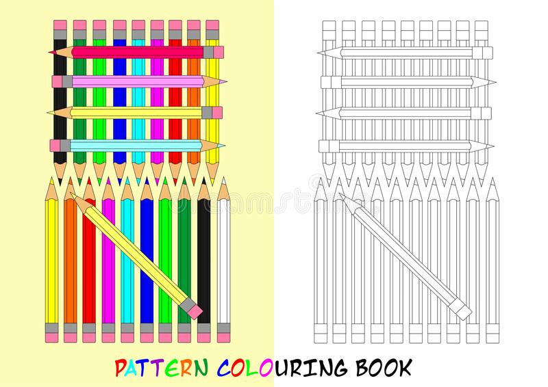 Download Pattern Colouring Book - Cdr Format Stock Vector - Illustration of education, funny: 34444855