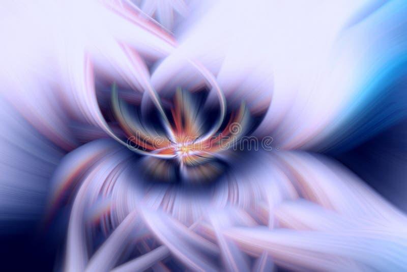 Pattern cosmos glow fractal illustration. backdrop futuristic stock illustration