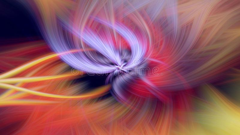 Pattern cosmos glow fractal illustration. sci-fi backdrop royalty free illustration