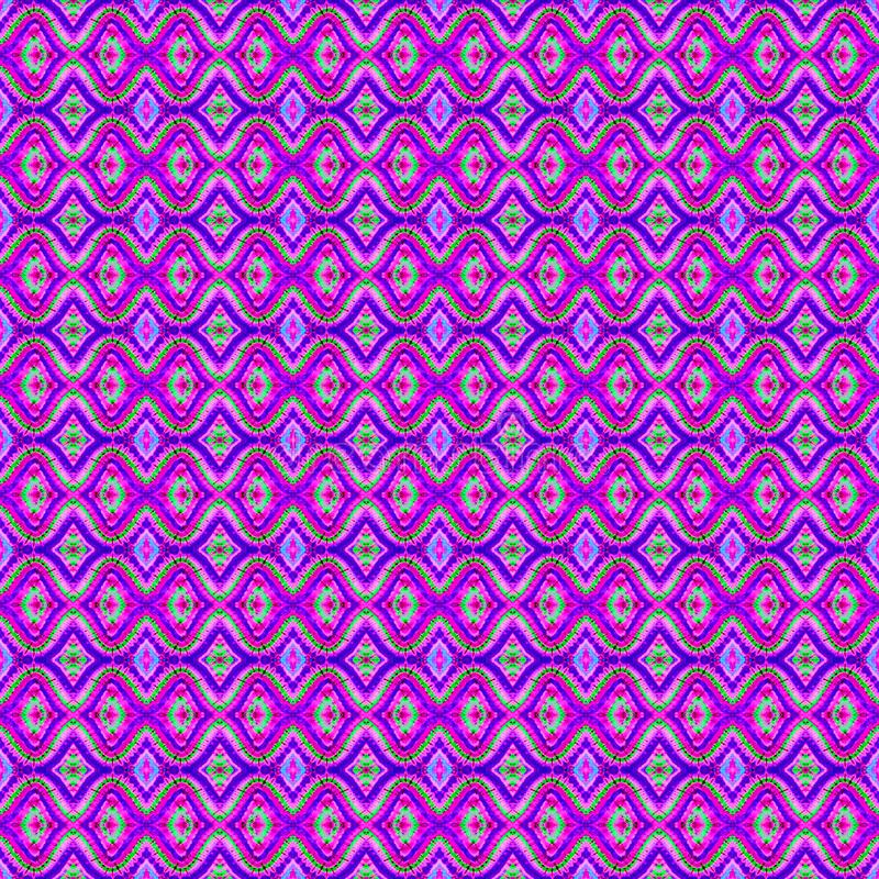 Background Seamless Abstract Tie Dye Pattern. Pattern created originally from tie dyed fabric royalty free illustration