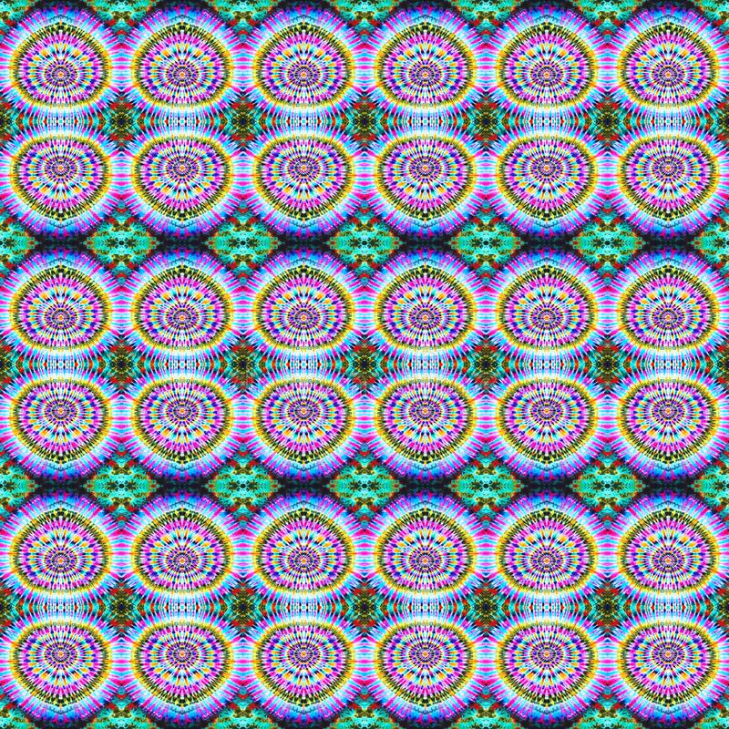 Background Seamless Abstract Tie Dye Pattern. Pattern created originally from tie dyed fabric stock illustration