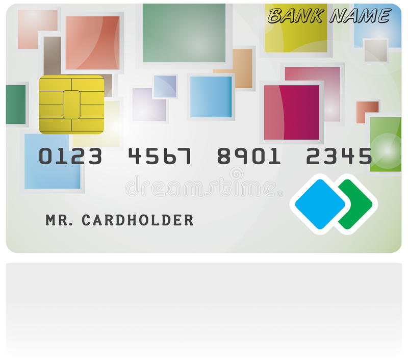Pattern Of Credit Card Stock Image