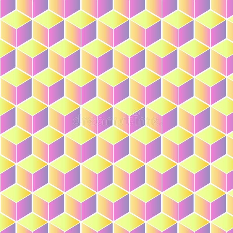 Cube pattern in pastel colors stock photos