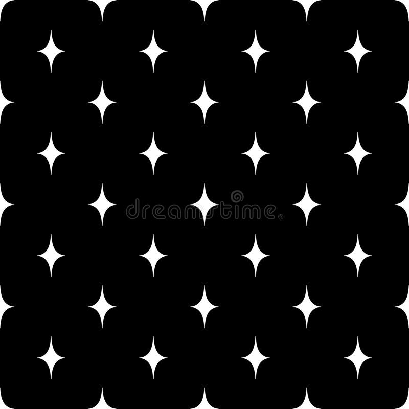 Pattern with curved rhombus vector illustration