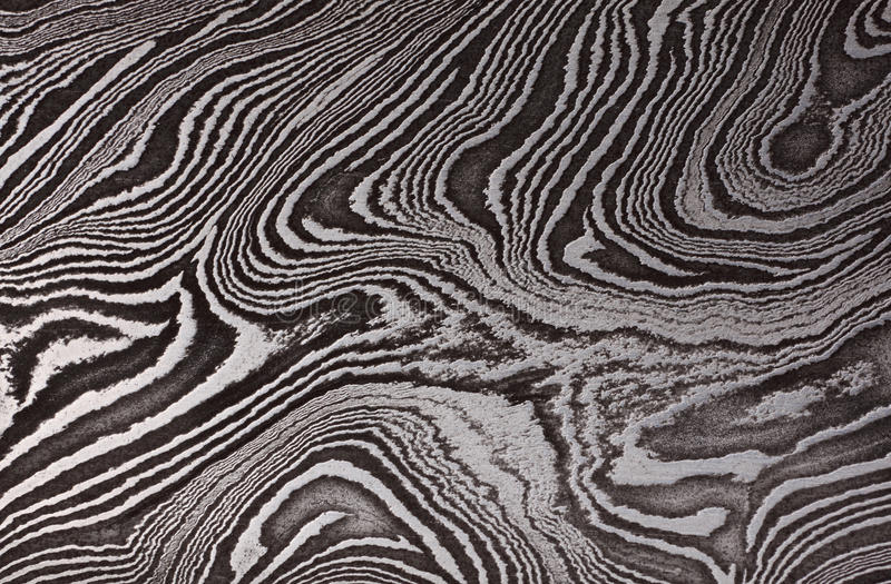 Pattern of Damask steel. Background with pattern of Damask steel, close up royalty free stock photo