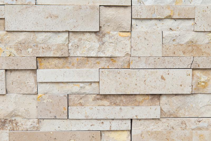 Pattern of decorative slate stone wall for background.  stock photo