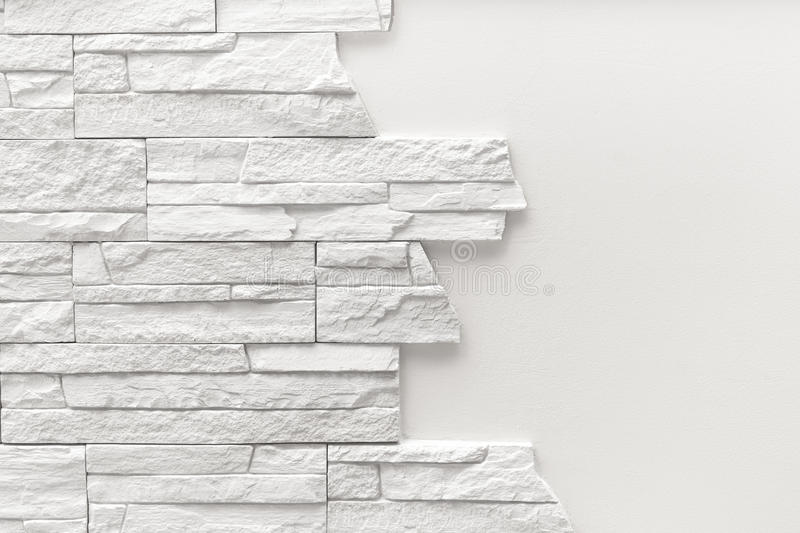 Pattern of decorative white slate stone wall surface.  royalty free stock images