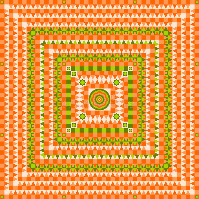 Pattern design with squares, triangles and circles design illustration stock illustration