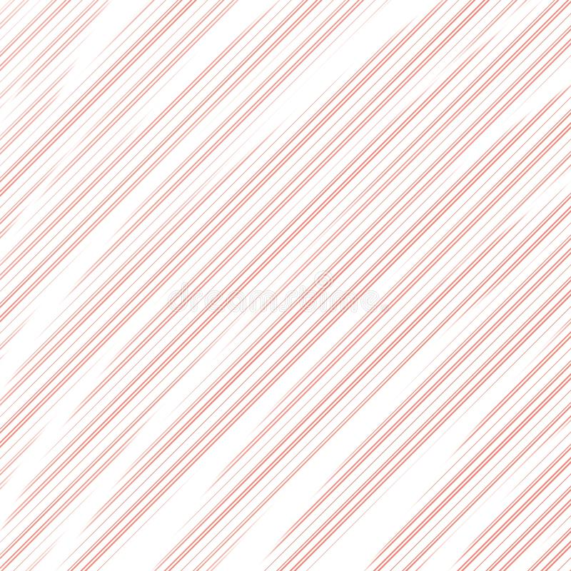 Pattern of diagonal abstract coral stripes on white background. Print for clothes. Bright designer element stock illustration