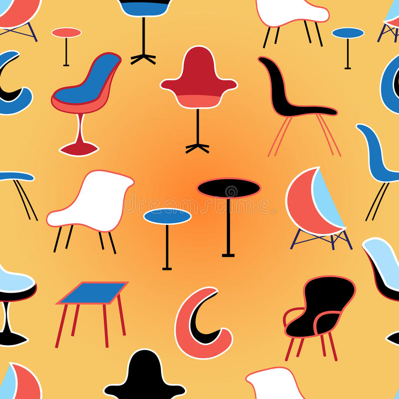 Pattern of different seating Furniture stock illustration