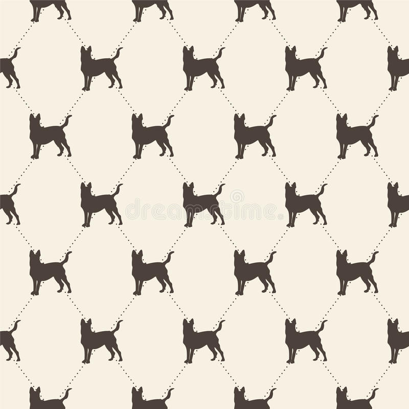 Pattern with dogs. seamless texture. Can be used as a fill pattern or design clothes stock illustration