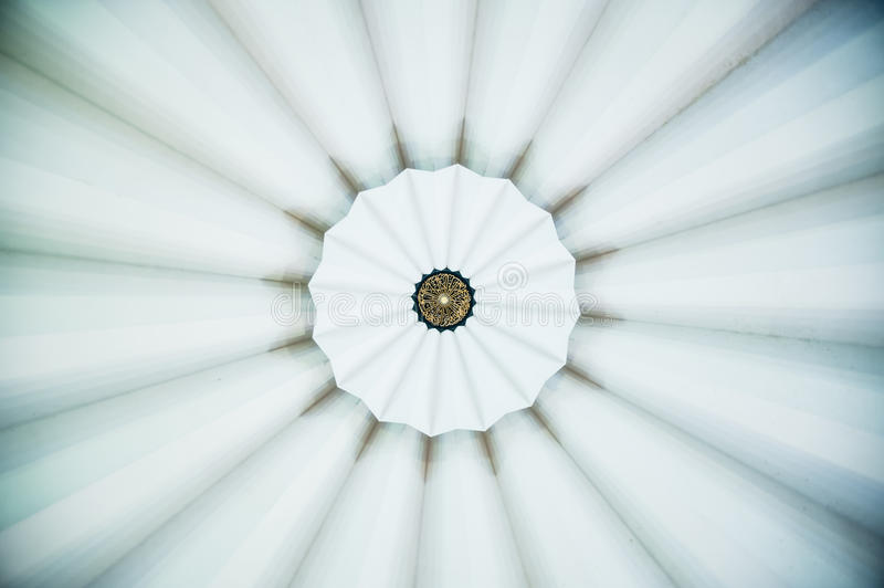 Pattern on Dome Ceiling. Islamic calligraphy pattern on a dome ceiling stock image