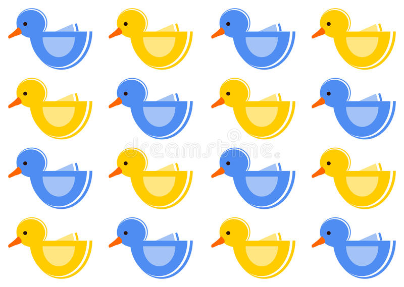 Pattern with ducks