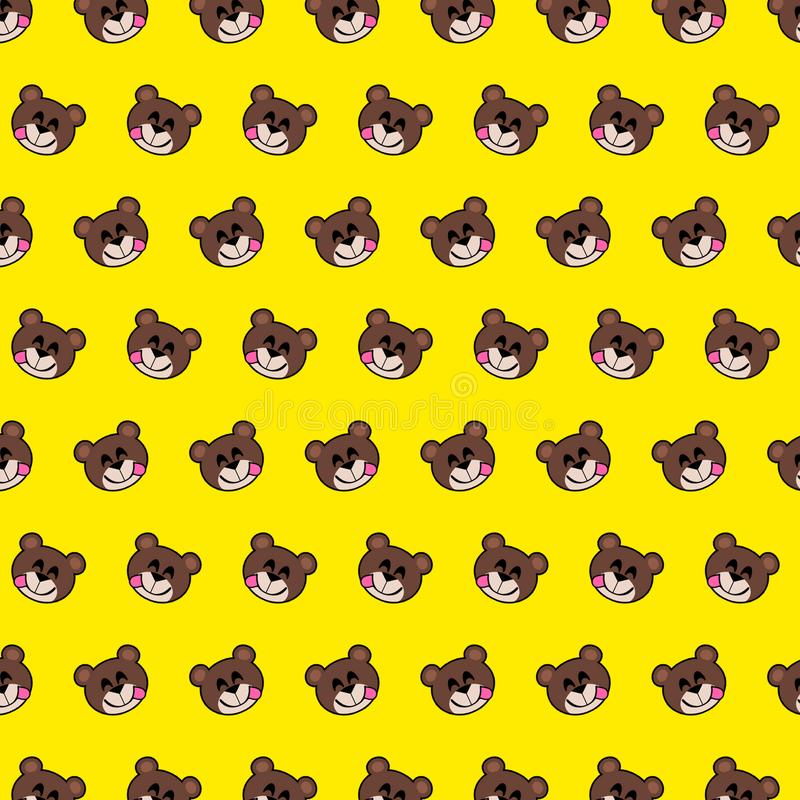 Bear - emoji pattern 11 stock illustration