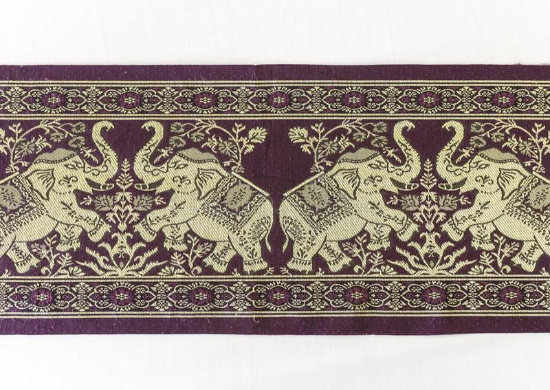 The Pattern on fabric. The Pattern of elephant on fabric royalty free stock photos