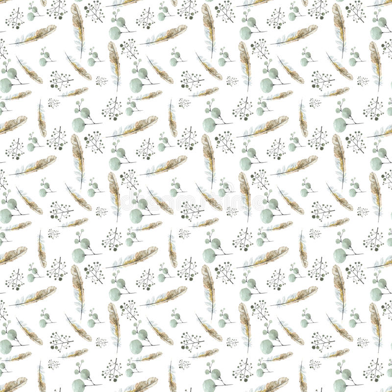 Pattern feather birds brown royalty free stock photography