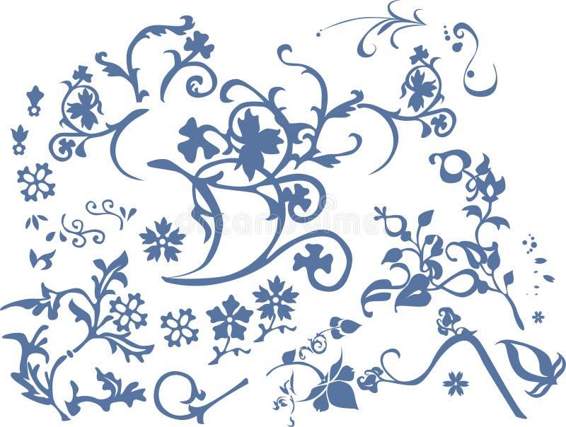 Pattern fit flowers stock illustration