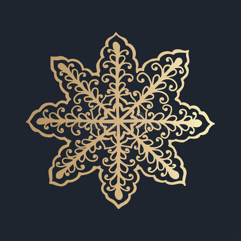 pattern with floral lace ornament for Christmas collection. royalty free illustration