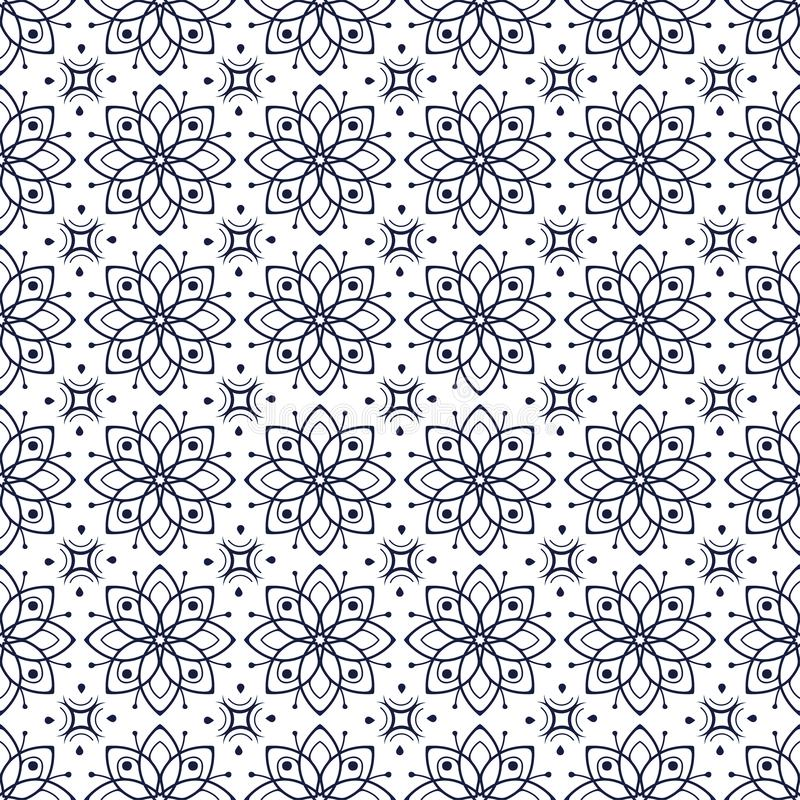 Pattern08 floral sans couture simple illustration stock