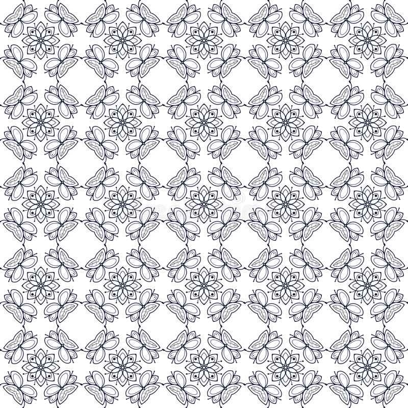 Pattern04 floral sans couture simple illustration de vecteur