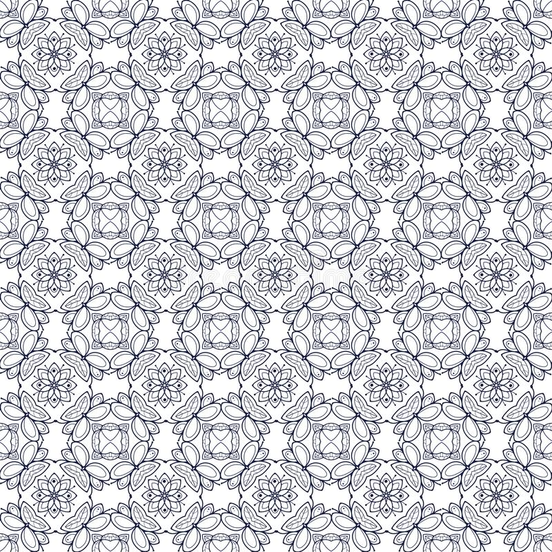 Pattern06 floral sans couture simple illustration libre de droits