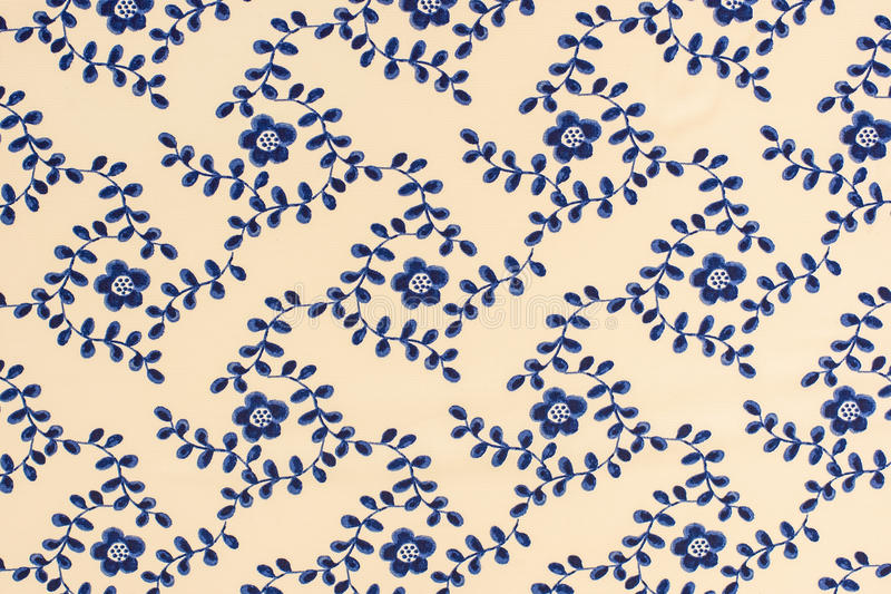 Pattern flowe. R on cloth fabric for business stock photo