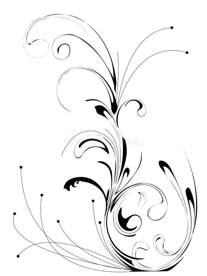 Pattern flower. Vector flower pattern on white background