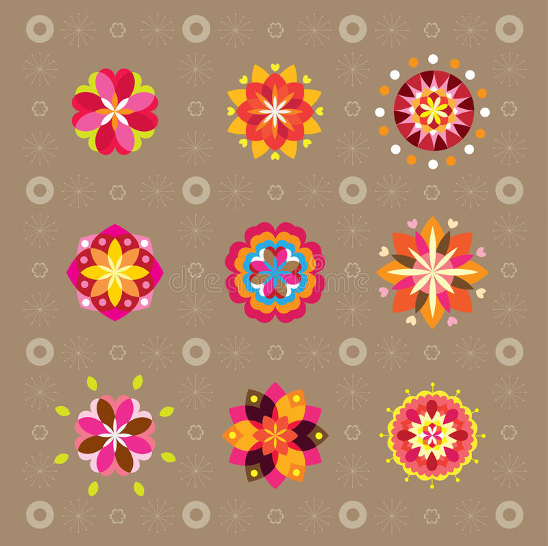 Download Pattern Flowers stock vector. Image of heart, backdrop - 9843055