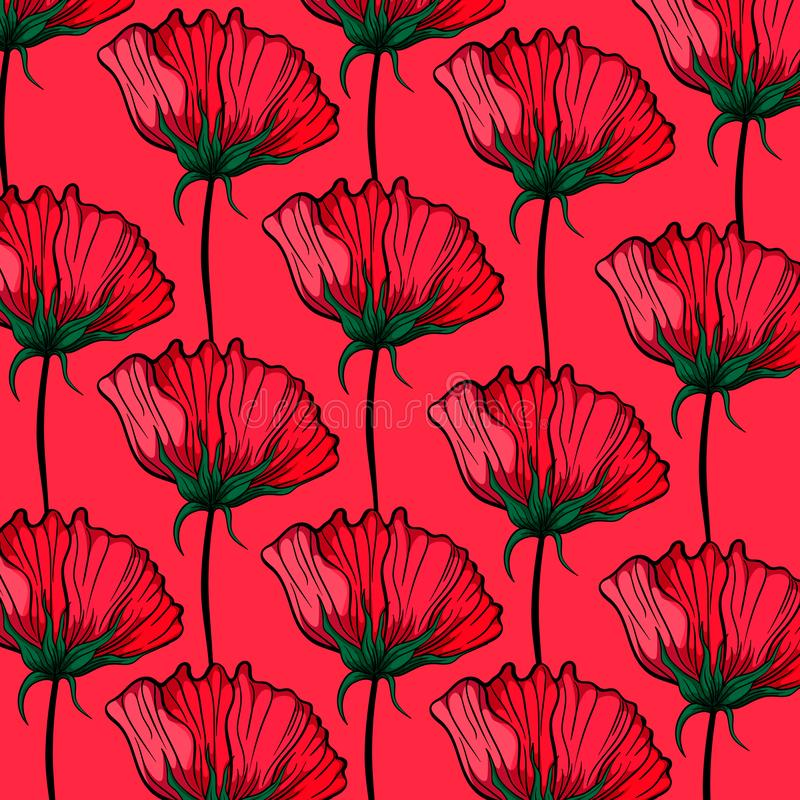 Pattern flowers. On the background royalty free illustration