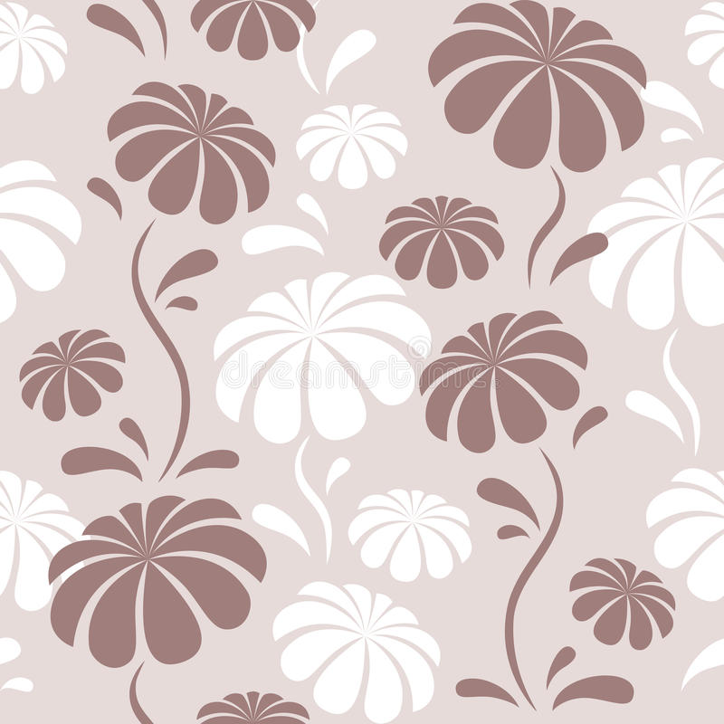 Pattern with flowers vector illustration