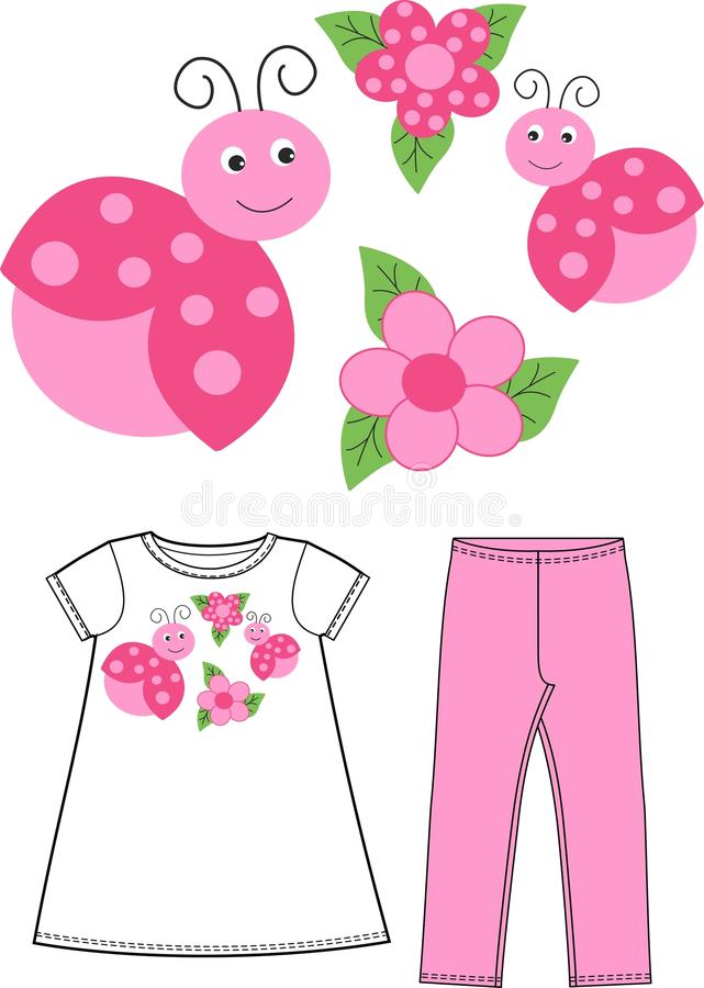 Free Pattern For Children Wear Royalty Free Stock Photos - 29053818
