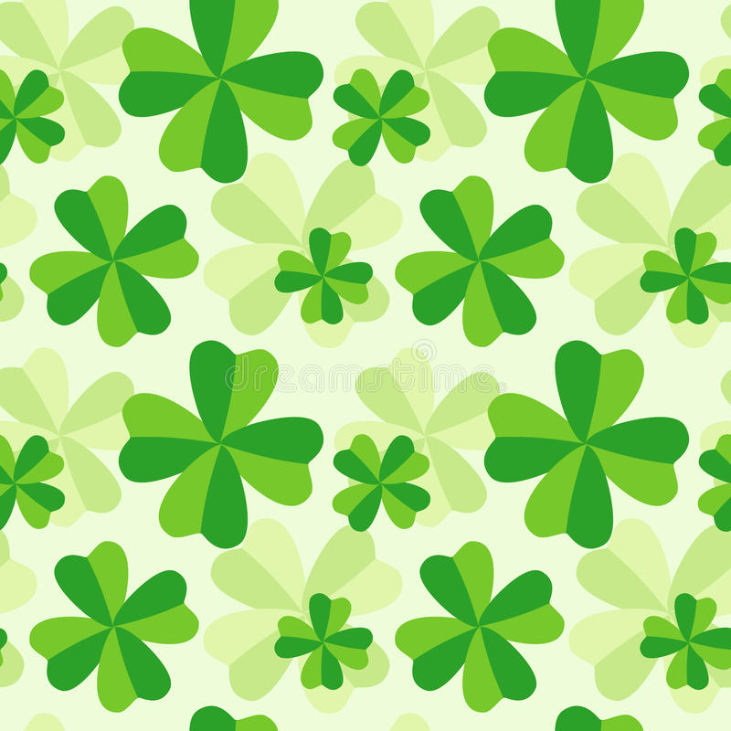 Download Pattern Of Four Leaf Clover Stock Image - Image of graphics, green: 18573647