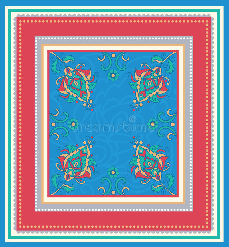 Download Pattern in a frame. stock vector. Image of backgrounds - 25983107