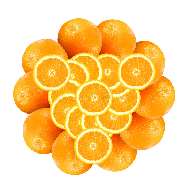 Free Pattern From Oranges Royalty Free Stock Photography - 3994557