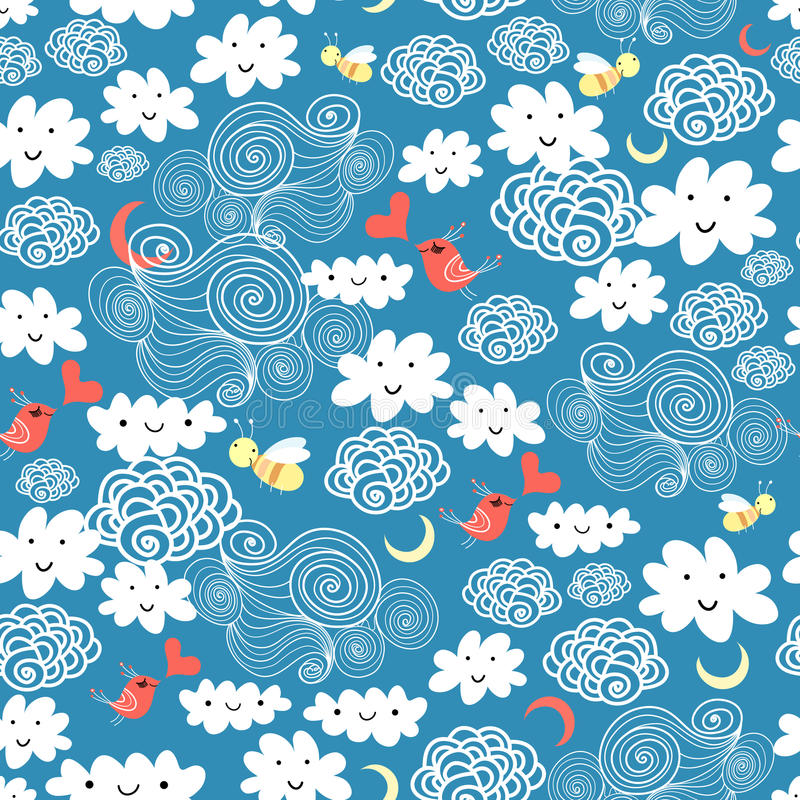 Pattern Of The Fun Of Clouds Royalty Free Stock Images