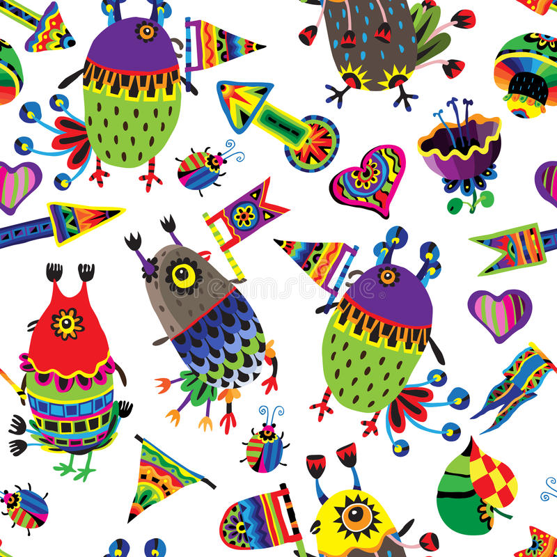 Download Pattern With Funny Birds. Stock Vector - Image: 83704247